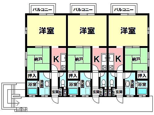 アパート-半田市乙川畑田町3丁目 間取り図1K+納戸×6部屋
