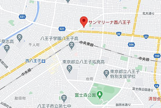 マンション(建物一部)-八王子市追分町 地図