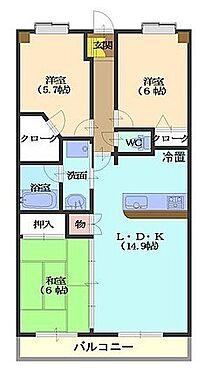 マンション(建物一部)-大網白里市みやこ野1丁目 間取り