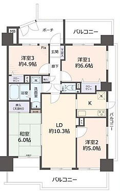 区分マンション-名古屋市南区豊田2丁目 4LDK和室あり