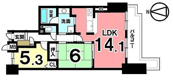 中古マンション-桜井市大字谷 南向きバルコニーから日差しがたっぷり入るとっても明るいお部屋です。