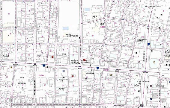 マンション(建物一部)-静岡市清水区本郷町 地図