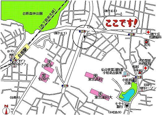 アパート-仙台市青葉区旭ケ丘1丁目 地図