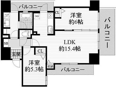 マンション(建物一部)-大阪市西区江戸堀3丁目 使い勝手の良い2LDK