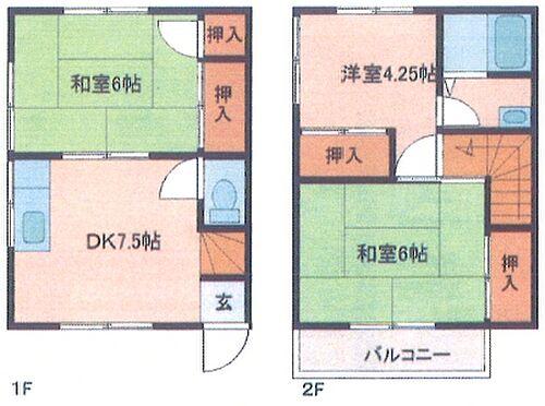アパート-稲敷市犬塚 間取り