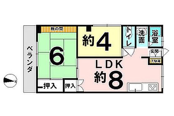 マンション(建物一部)-尼崎市田能 間取り