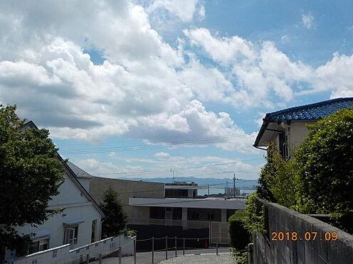 土地-大津市滋賀里3丁目 住戸2階から琵琶湖を望む1