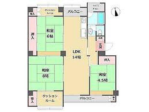 区分マンション-神戸市灘区鶴甲5丁目 間取り