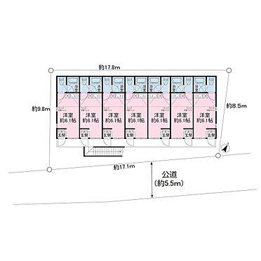 アパート-横浜市鶴見区東寺尾1丁目 約6.1帖の洋室、ロフト(約6.82m2)付のワンルームが14戸のアパートとなります。