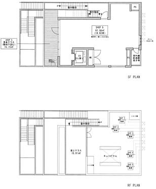 店舗事務所(建物全部)-立川市柴崎町3丁目 5F・屋上 平面図