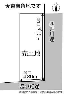 土地-京都市下京区志水町 全体区画図