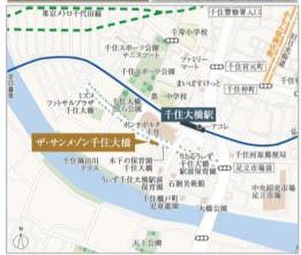 店舗事務所(建物一部)-足立区千住橋戸町 地図