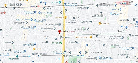 区分マンション-杉並区高円寺南2丁目 地図
