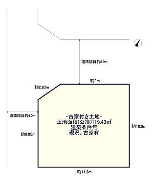 土地-守口市竹町 区画図