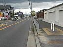 前面道路含む現地撮影:前面道路10M幅で車庫入れ楽々