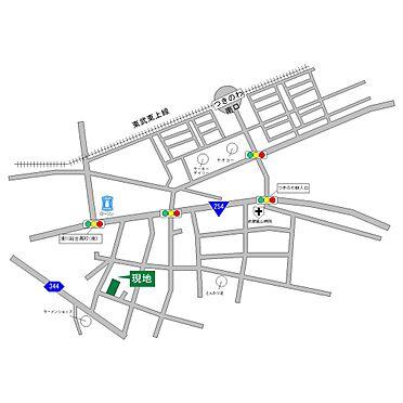 土地-東松山市大字上唐子 地図