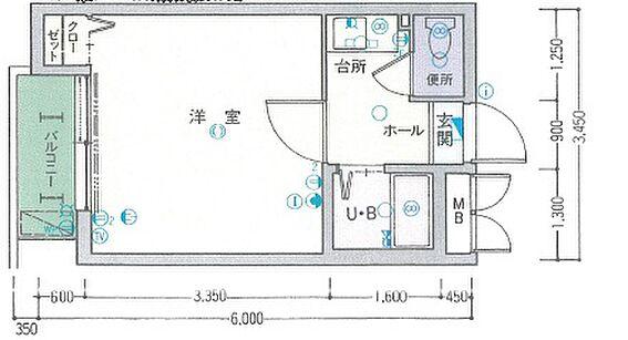 マンション(建物一部)-福岡市東区名島2丁目 間取り