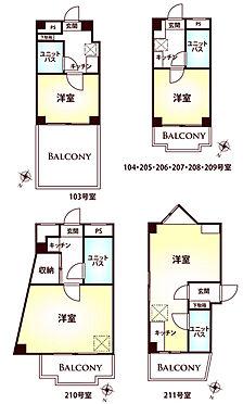 マンション(建物一部)-八王子市長房町 1K×8戸、1R×1戸