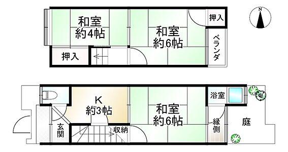 中古一戸建て-京都市南区壬生通八条下る東寺町 間取り