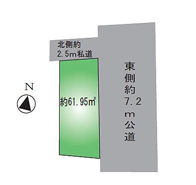 アパート-江戸川区東小岩4丁目 土地区画図