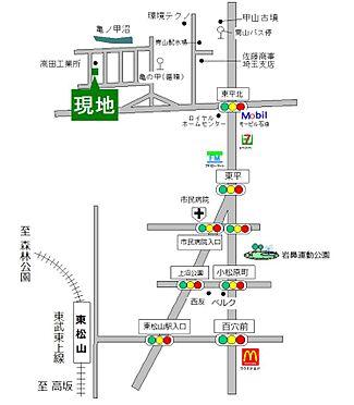 土地-東松山市大字大谷 地図