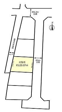 土地-昭島市宮沢町2丁目 区画図