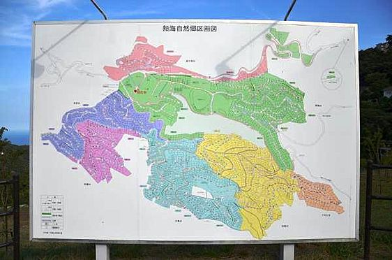 土地-熱海市上多賀 熱海自然郷別荘地の全体図です。