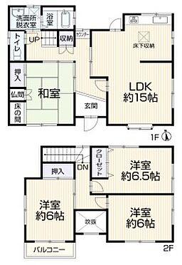 戸建賃貸-豊田市平戸橋町永和 和室2部屋の間取り。お家に和室が一つあるだけで来客用・お子様の遊び場、と様々な使い方ができます。