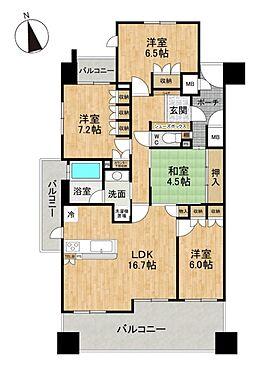 区分マンション-豊田市寿町3丁目 広々4LDK!バルコニーは3ヶ所ございます。
