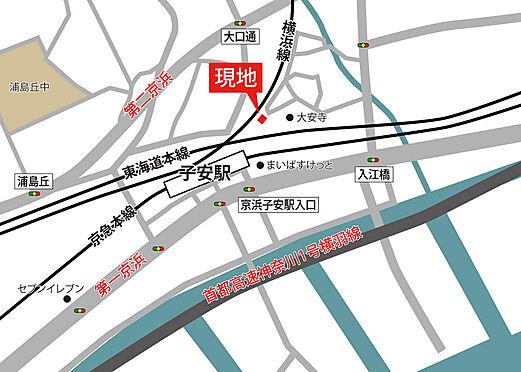 アパート-横浜市神奈川区入江1丁目 子安駅までは地下遊歩道の利用が便利です。