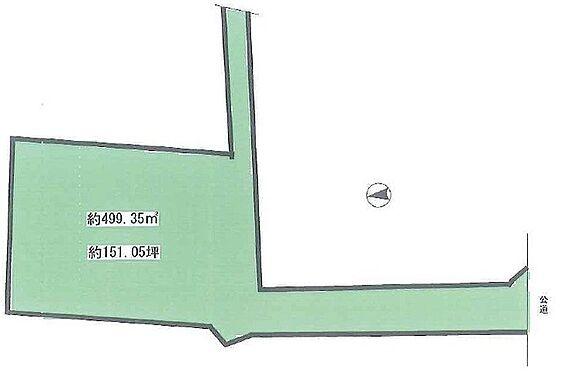土地-豊中市曽根西町2丁目 区画図