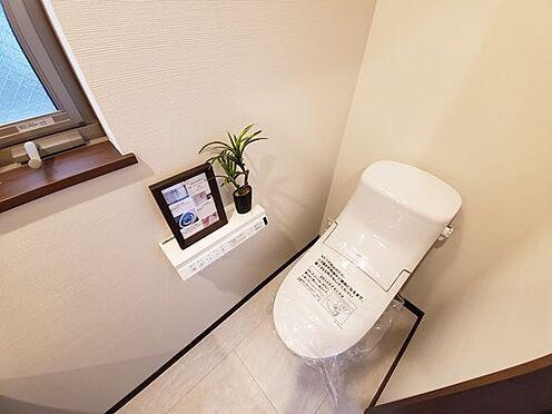 新築一戸建て-八王子市堀之内2丁目 スタイリッシュなトイレで清掃も楽々です!