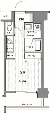 マンション(建物一部)-京都市右京区梅津南広町 単身者向けのシンプルな間取り