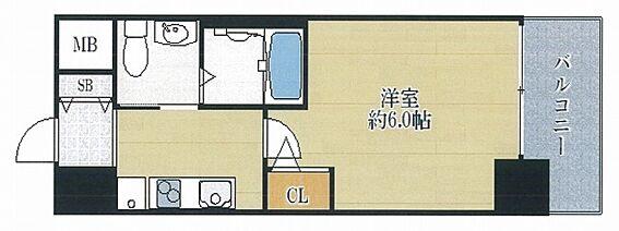 マンション(建物一部)-大阪市浪速区幸町3丁目 水回りと居室スペースをわけた単身者向けプラン
