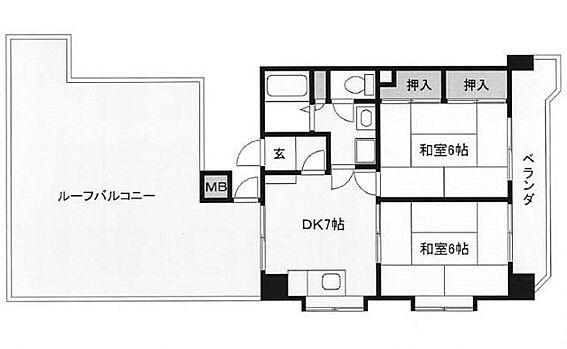 マンション(建物一部)-北九州市小倉北区大畠1丁目 ベランダは東向きです。間取図は現況を優先とします。