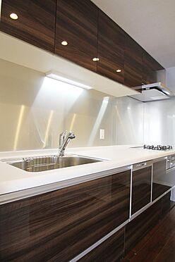 区分マンション-文京区白山2丁目 食洗機付き、浄水器付きのシステムキッチンです。