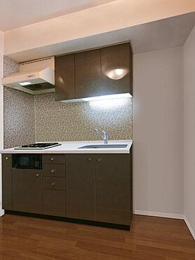 区分マンション-港区南麻布3丁目 キッチン。CGで作成したリフォームイメージです。