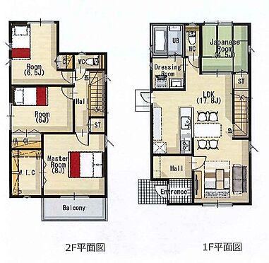 新築一戸建て-豊田市千足町1丁目 使いやすい間取りの4LDK。人気のリビング階段とカウンターキッチンで家族の会話が自然と増えますね。