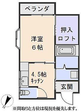 アパート-杵築市大字守江 間取り