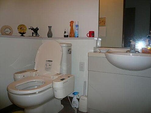 中古マンション-田方郡函南町平井 トイレはとても広く、手洗い場を洗面として利用できます。