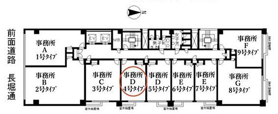 店舗・事務所・その他-大阪市中央区南船場1丁目 間取り
