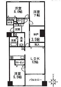 マンション(建物一部)-貝塚市二色2丁目 間取り