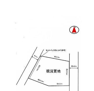 土地-吹田市千里山西4丁目 区画図