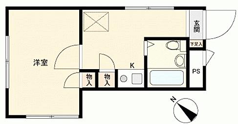 区分マンション-相模原市中央区富士見3丁目 間取り