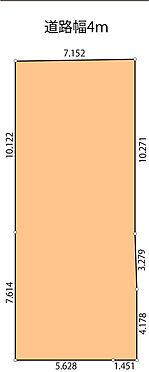 土地-江東区南砂6丁目 地形図 土地間口7.1m
