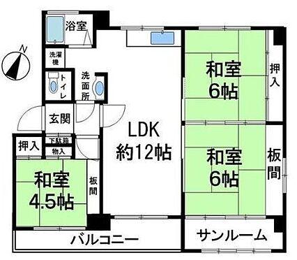 区分マンション-神戸市灘区鶴甲1丁目 最上階で眺望良好・南向き