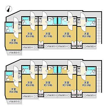 アパート-我孫子市我孫子3丁目 ハイムプリマヴェーラ 収益アパート 事業用一括の間取りです