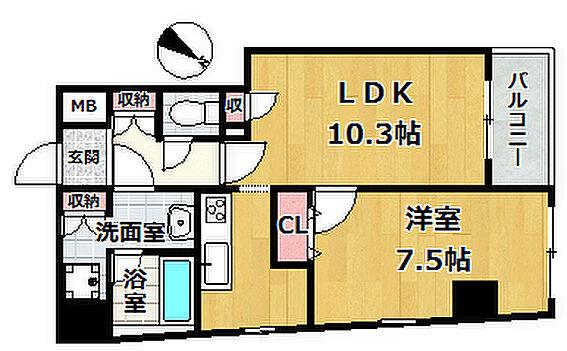 区分マンション-中央区日本橋浜町3丁目 間取り