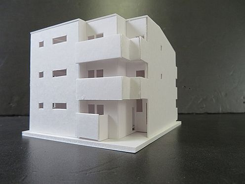 アパート-名古屋市緑区鳴海町字上汐田 外観模型