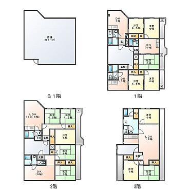マンション(建物全部)-川崎市幸区下平間 間取り